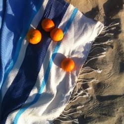 Hammam Beach Fouta Panal de abeja de color liso con bandas