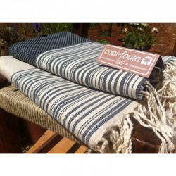 Pack x2 NEW HAMMAM Stripes on solid color Honeycomb  Fouta