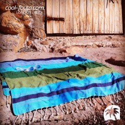 FANTASY HAMMAM 5 colors on Honeycomb Fouta
