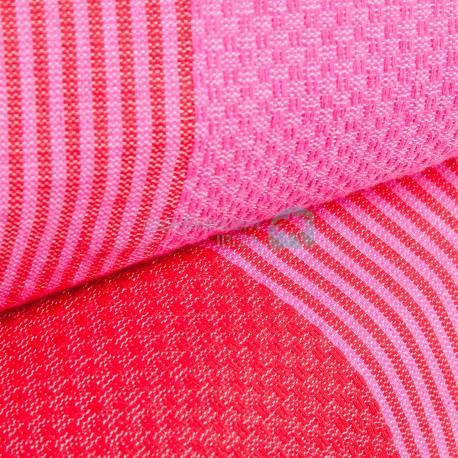 COOL-FOUTA PACK x2 Fucsia y Rojo Toallas de Hammam Foutas en Panal de abeja