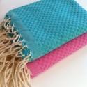 COOL-FOUTA MINI Honeycomb Hammam Fouta Towel size 69x56cm.