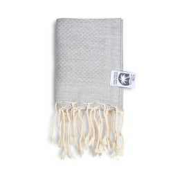 COOL-FOUTA MINI Gray Violet solid color no stripes Honeycomb Hammam Fouta Towel size 70x50cm.