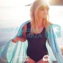 COOL-FOUTA CLASSIC Tejido liso Sal de Ibiza con bandas crudo clásicas - Toalla de Hammam Fouta  2x1m.