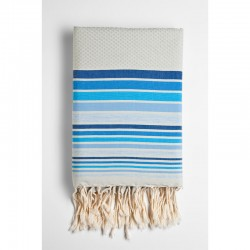 COOL-FOUTA HAMMAM WAVES Honeycomb Fouta 5 Colors stripes on solid color 2x1m.