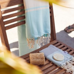 COOL-FOUTA PACK Hammam Tumbona - Tiffany + Mini Gris