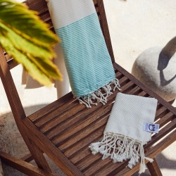COOL-FOUTA PACK Raw Hammam - Honeycomb Fouta + Mini