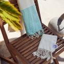COOL-FOUTA PACK Raw Hammam - Honeycomb Fouta with Emerald stripes + Mini