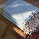 COOL-FOUTA PACK x3 (€54.65 offer) Neutral Gray Honeycomb Hammam Fouta with Tiffany's Sal de Ibiza stripes