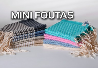 Discover our Mini Foutas cool Tea Towels and Hammam hand Towels