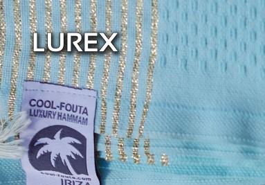 Compra tu pareo toalla de hammam fouta con Lurex, en dorado y plateado